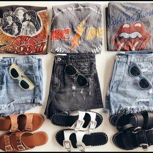 Faux Leather Slides | NWOT